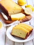 Lemon yogurt loaf cake Royalty Free Stock Photos