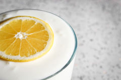 Lemon yogurt Royalty Free Stock Photos