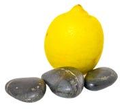Lemon and Zen Stones I Stock Images