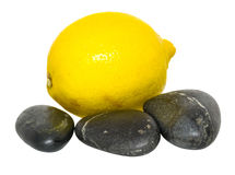 Lemon and Zen Stones II Royalty Free Stock Photos