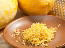 Lemon zest Royalty Free Stock Image