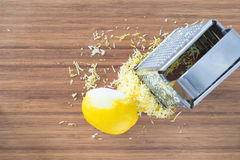 Lemon zest and grater Stock Images