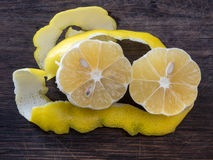 Lemon zest. Ready to cook Royalty Free Stock Image