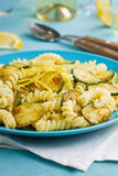 Lemon and zucchini pasta Royalty Free Stock Photo