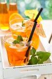 Lemonad med apelsiner Royaltyfria Foton