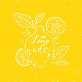 Lemonadbokstäver och citroner Royaltyfria Bilder