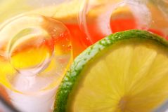 Lemonade. Abstract background of lemonade with ice stock illustration