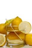 Lemonade. A glass full of delicious fresh lemonade Stock Photo