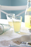 Lemonade. A sunlit kitchen with charming glasses of lemonade Royalty Free Stock Photo