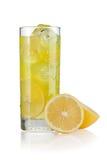 Lemonade. Glass of lemonade with slices of lemon on the side Stock Images