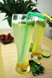 Lemonade. Lovely fresh citrus drink for a hot summer day. Lovely lemonade with honey Stock Photos