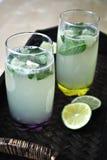Lemonade. Lovely fresh citrus drink for a hot summer day. Lovely lemonade with honey Royalty Free Stock Photo