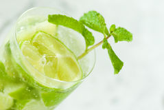 Lemonade. Drink with mint over table Stock Images