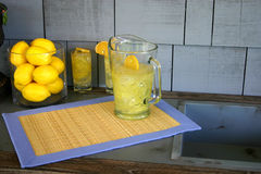 Lemonade. On a deck Royalty Free Stock Photos