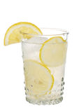Lemonade In Antique Glass With Lemon Slices Royalty Free Stock Photography