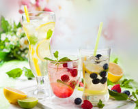 Lemonade with berries and fruits Royalty Free Stock Photography