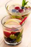 Lemonade with berries Stock Photos