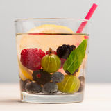 Lemonade with berries Stock Photography