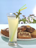 Lemonade and cake Stock Images