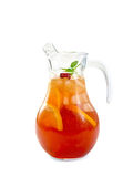 Lemonade with cherry in pitcher Stock Photography