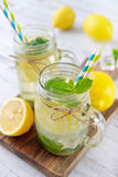 Lemonade with citrus and ginger Royalty Free Stock Photos