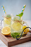 Lemonade with citrus and ginger Stock Image
