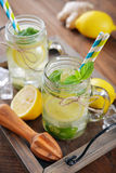 Lemonade with citrus and ginger Royalty Free Stock Photography