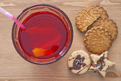 Lemonade and cookies Royalty Free Stock Images