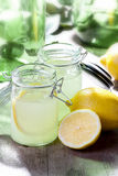 Lemonade. Country cold fresh lemonade on table royalty free stock image