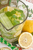 Lemonade with cucumber and lemons Stock Photography