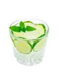 Lemonade with cucumber and mint Royalty Free Stock Photos