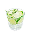 Lemonade with cucumber and rosemary Royalty Free Stock Photos