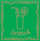 Lemonade drawing Royalty Free Stock Images