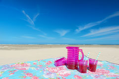 Lemonade drink at the beach Royalty Free Stock Images