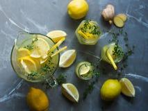 Lemonade drink with lemons Stock Photography
