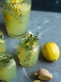 Lemonade drink with lemons Stock Photo