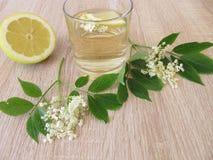 Lemonade with elderflower and lemon stock photography