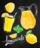 Lemonade elements chalk Royalty Free Stock Photo