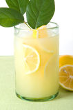 Lemonade With Few Lemon Leaves Royalty Free Stock Images