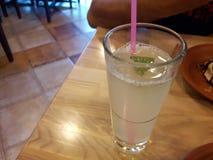 Lemonade. Filled glass Royalty Free Stock Image