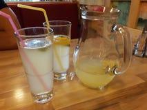 Lemonade. Filled glasses Stock Image