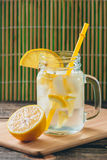 Lemonade with Fresh Lemon. Healthy Food and Drink Concept Royalty Free Stock Photography