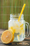 Lemonade with Fresh Lemon. Healthy Food and Drink Concept Stock Photo