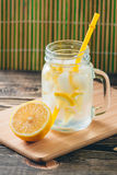 Lemonade with Fresh Lemon. Healthy Food and Drink Concept Stock Images