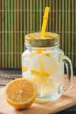 Lemonade with Fresh Lemon. Healthy Food and Drink Concept Royalty Free Stock Image