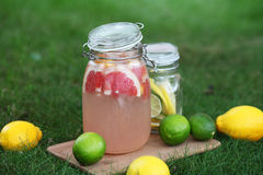 Lemonade. Fresh lemonade. Lemon and lime Royalty Free Stock Images