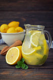 Lemonade with fresh lemon Royalty Free Stock Images