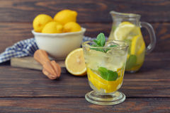 Lemonade with fresh lemon Royalty Free Stock Image