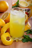 Lemonade from fresh lemons, ice and mint. Royalty Free Stock Images