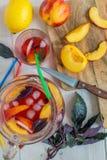 Lemonade fruit and purple basil. Stock Images